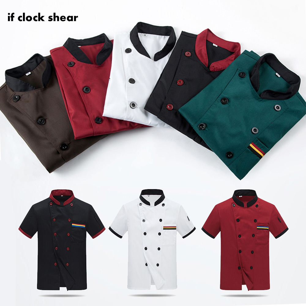Wholesale Unisex Kitchen Chef Restaurant Uniform Shirt Service Bakery Breathable Double Breasted Chef Dress Chef Jackets Apron