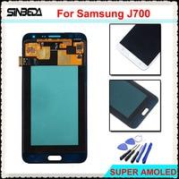 Sinbeda Black White Gold LCD Screen For Samsung Galaxy J7 2015 J700 J700F J700 LCD Touch
