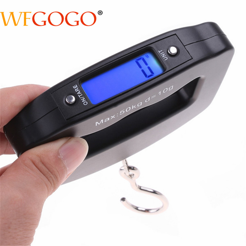 6b7be263b371 50kg x 10g Mini Digital Hanging Luggage Scale Portable LCD Electronic  Travel Weight Weighing Scale
