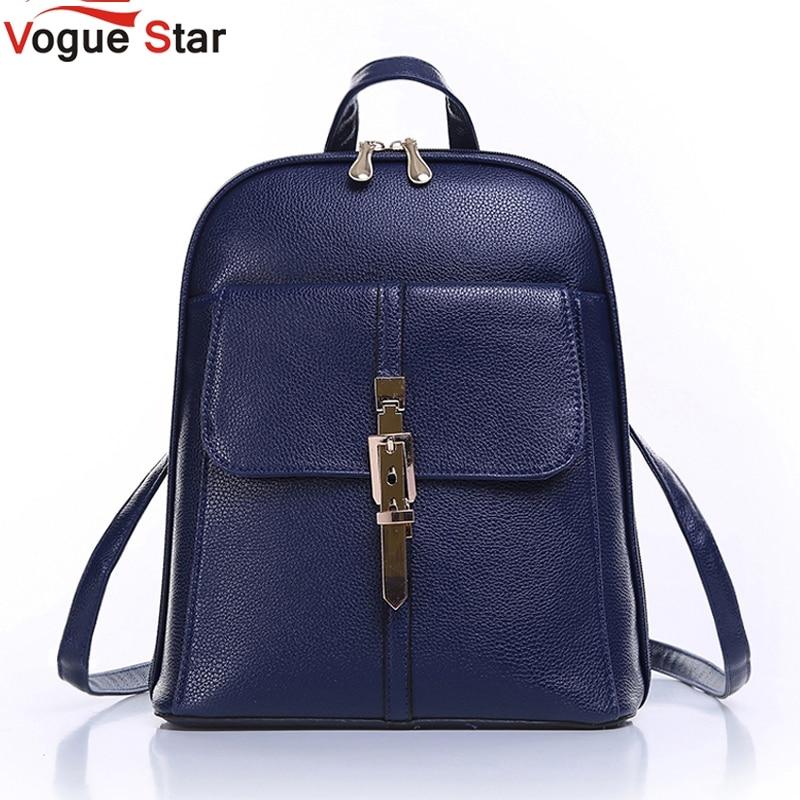 Vogue Star 2017 backpacks women backpack school bags students backpack ladies women's travel bags leather package YA80-173