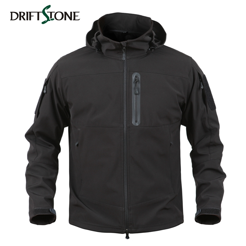 DRIFTSTONE Men Soft Shell Jacket Camouflage Man Waterproof Jackets Men Tactical Jacket Military Army Coats Multi-pockets lurker shark skin soft shell v4 military tactical jacket men waterproof windproof warm coat camouflage hooded camo army clothing