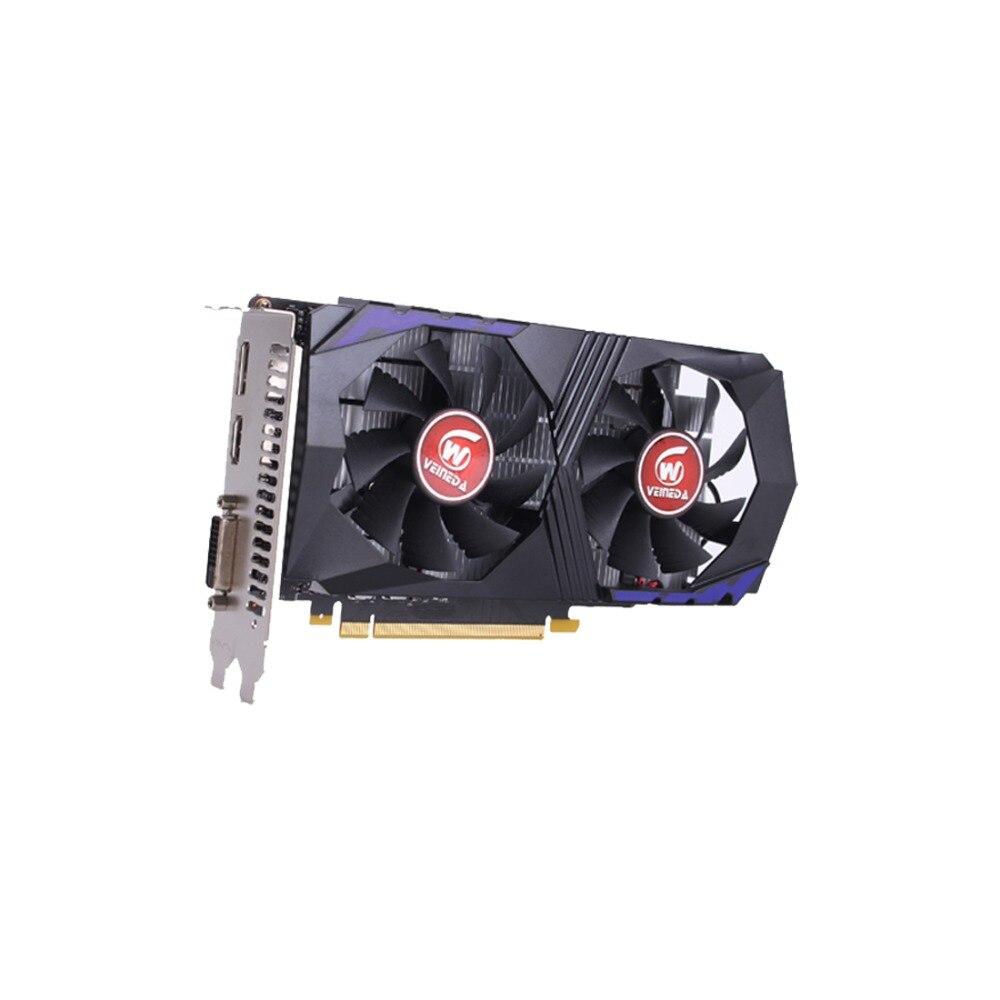 Carte vidéo VEINEDA pour carte graphique d'ordinateur PCI-E GTX1050Ti GPU 4G DDR5 pour jeu nVIDIA Geforce - 3