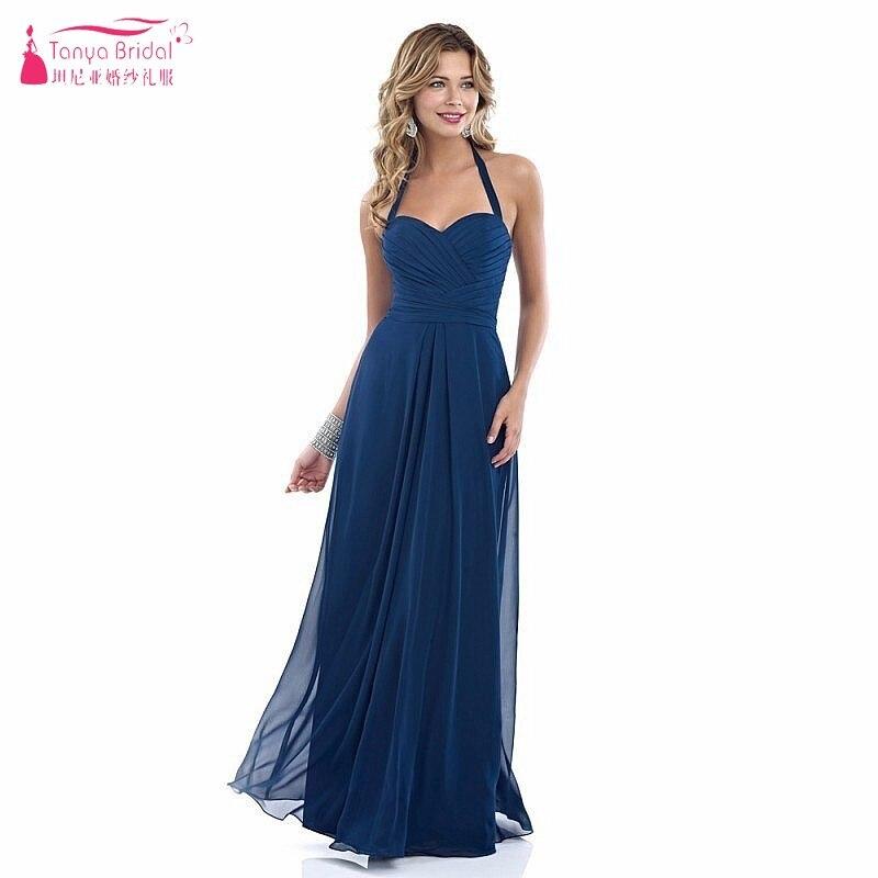 Robe soiree bleu marine