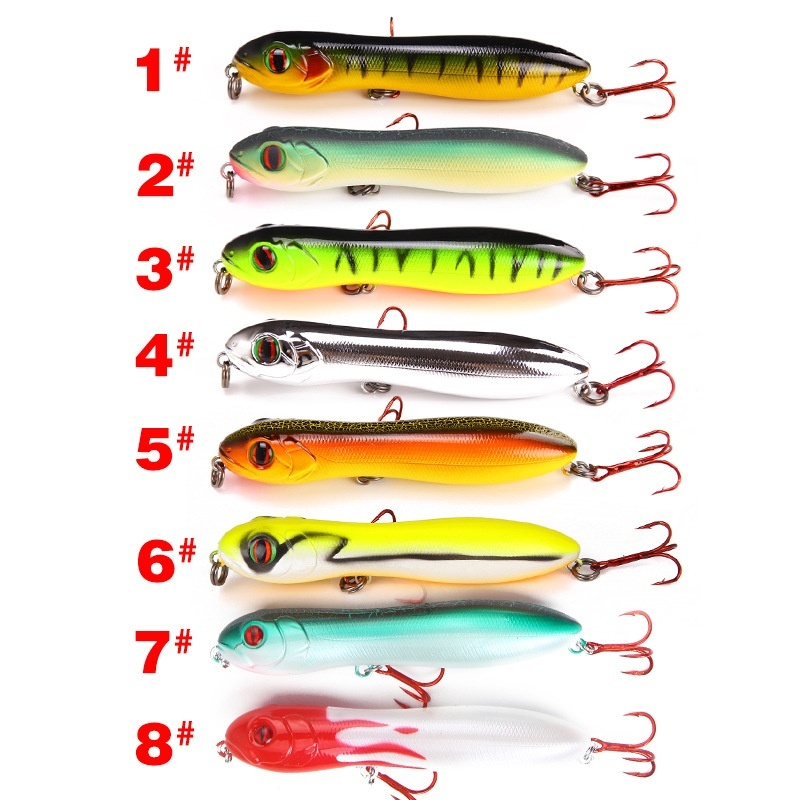 1pcs 10cm Snake Head Pencil Lure 15 6g Freshwater Sea Fishing Outdoor Fishing Gear Bionic Bait Free Shipping in Fishing Lures from Sports Entertainment