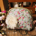 Rustic fluid 12.5 the mouth gold package coin purse coin case day clutch finish material kit gift metal frame handbag needlework