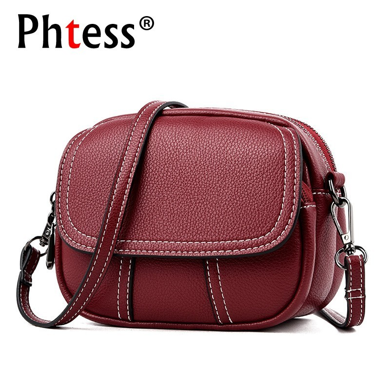 2019 Vintage Crossbody Bags For Women Luxury Brand Female Leather Shoulder Bag Ladeis Sac A Main Messenger Flap Bags For Girls