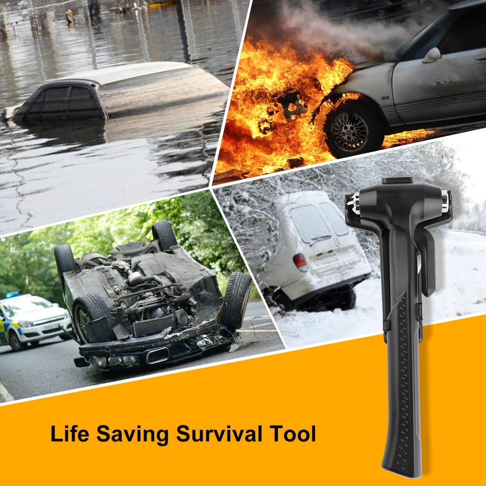 Image 5 - Car Window Glass Safety Hammer Tool Breaker Useful Life Hammer Mini Seat Belt Cutter Rescue Hammer Car Life saving Escape Tool