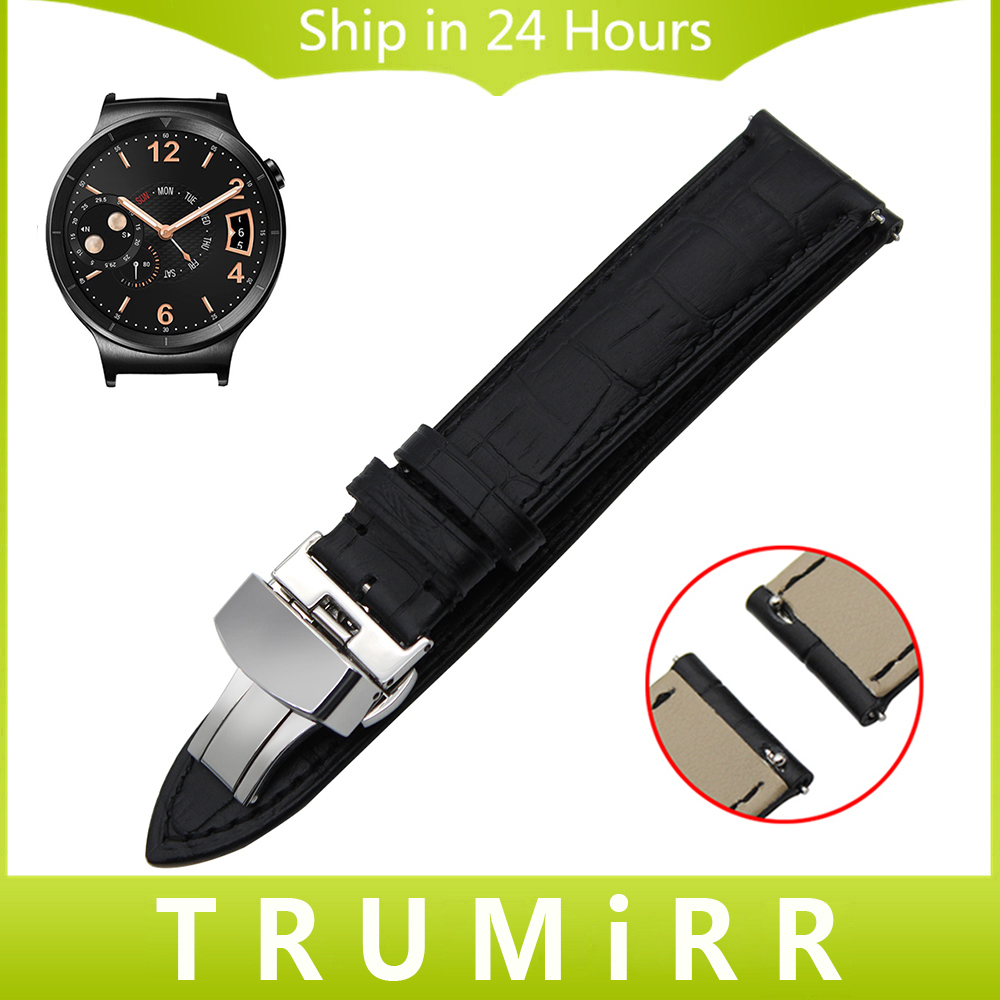 18mm Quick Release Watchband Genuine Leather Strap for Huawei Watch Asus ZenWatch 2 Women WI502Q Butterfly Buckle Band Bracelet 18mm first layer genuine leather watch band quick release strap for asus zenwatch 2 women wi502q wrist belt bracelet black brown