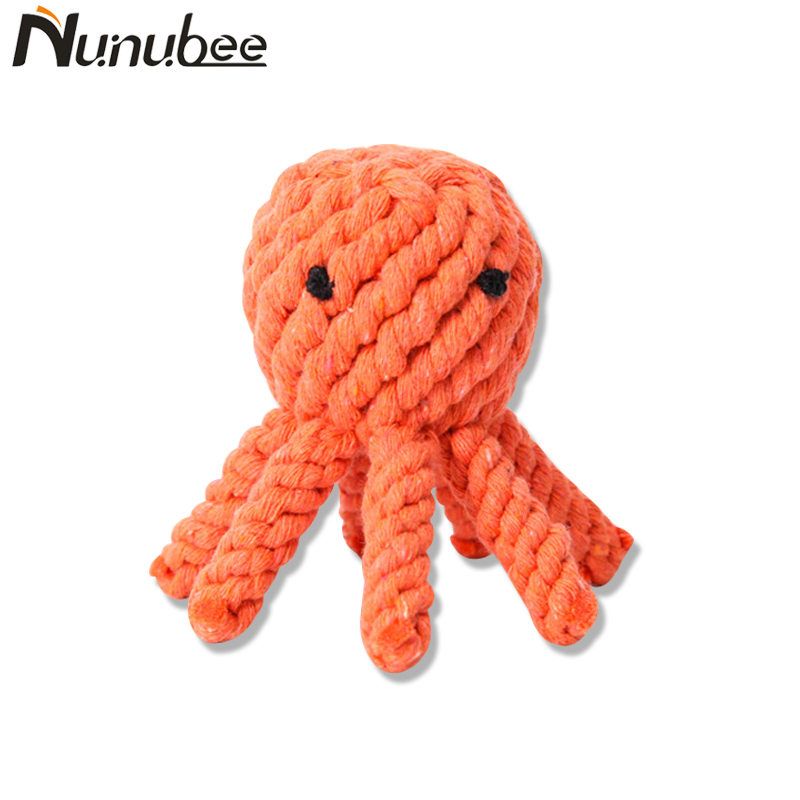 Nunubee Knot Cotton Braided Octopus Shape Puppy Dog Pet