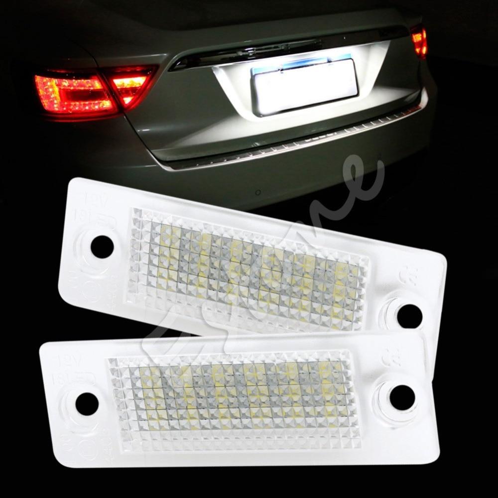 2X Error Free 18-LED Plate Light For VW Transporter Passat Golf Touran crown dci 2 1250n