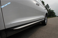 High Quality For Skoda Kodiaq 2017 2018 Stainless Steel Side Door Body Molding Protector Strip Cover