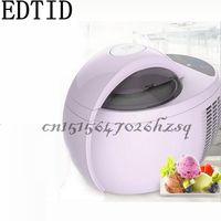 EDTID 110 W 220 V Haushalts Automatische Elektrische Obst eis machine1L High-kapazität Lila DIY eis maker