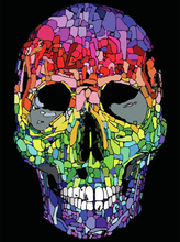 Sequin Color Skull 5D DIY Diamond Painting Full Square  Embroidery Sale Mosaic Rhinestones Decor Home