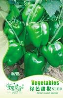 Original Pack Sweet Pepper Seeds Chili Biji Bonsai Capsicum Annuum Green Bell Pepper Seeds Organic Vegetable Seeds - 40 PCS