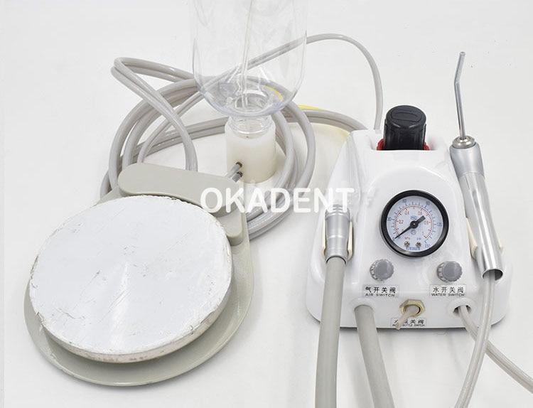 Diş Laboratoriyası Portativ Turbin Qurğusu Hava Kompressoru 3 tərəfli Əl Qapağı 4 Dəlik Pulsuz Göndərmə