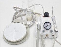 Unidad de turbina portátil de laboratorio Dental compresor de aire de 3 vías pieza de mano 4 orificios envío gratis