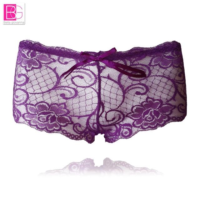 82adcac33 L bellagiovanna Sexy Women Cotton Boyshort Panties Lace Lingerie Boxer  Briefs Seamless Intimates Underpants Calcinha Lingerie