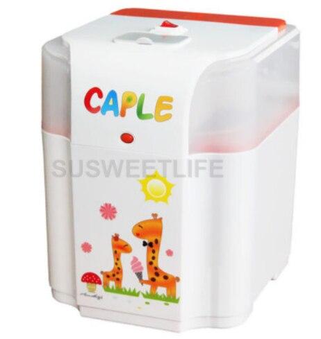 Machine à crème glacée, petite machine automatique de crème glacée de fruit de bricolage, cône mou de crème glacée