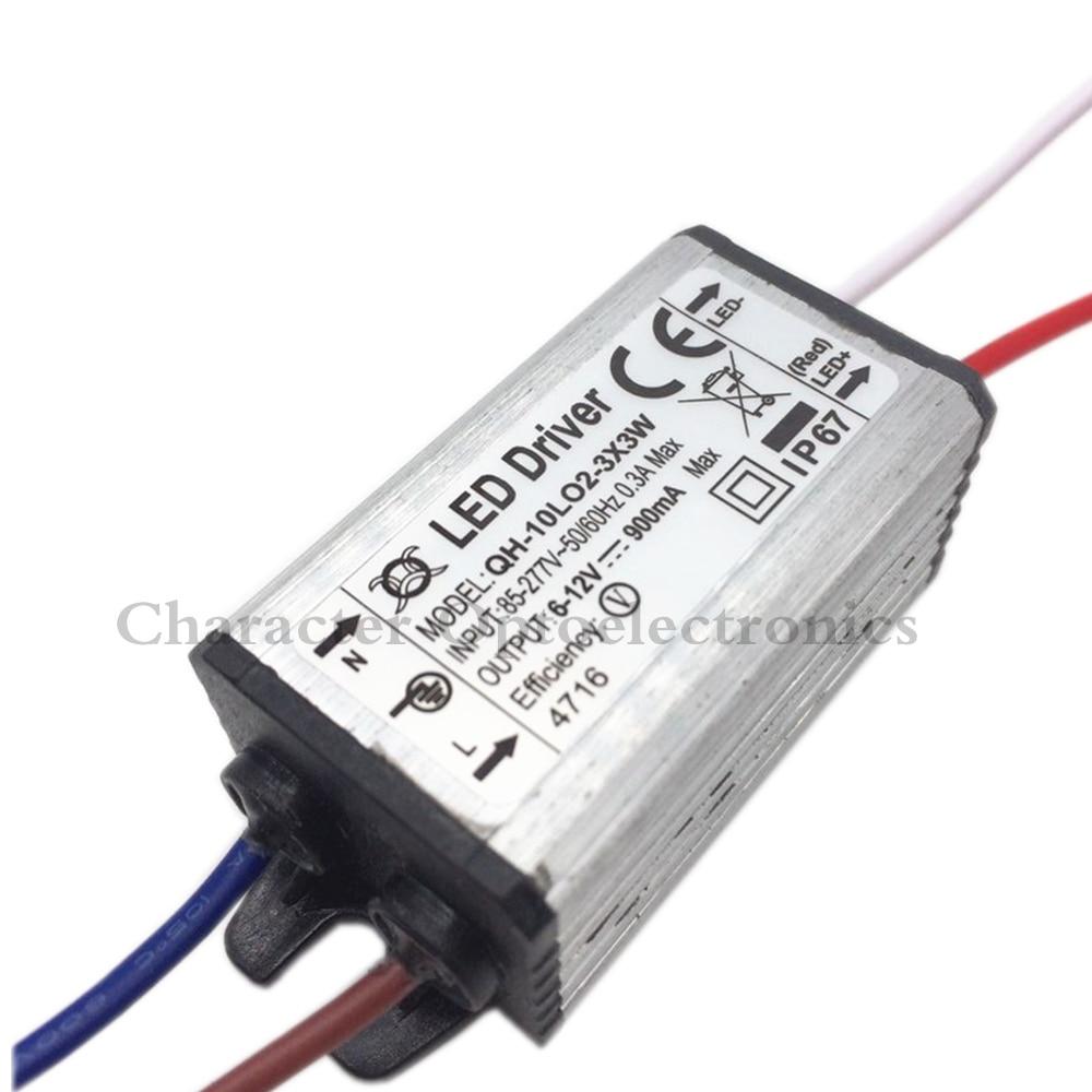10pcs visokokvalitetni LED drajver DC6-12v 10w 900mA 2-3x3 LED napajanje vodootporan IP67 FloodLight stalni strujni drajver