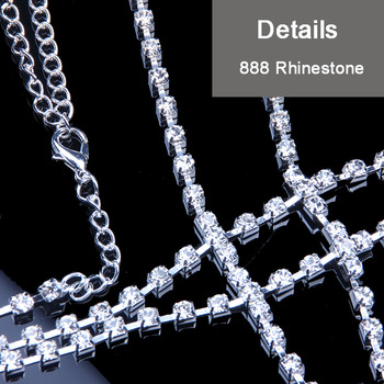 Body Fashion Rhinestone Chain Necklace10
