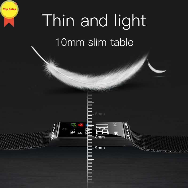 Smartwatch Women reloj inteligente 2019 Fitness tracker IP68 waterproof reloj del Bluetooth smart band wristband for ios android in Smart Watches from Consumer Electronics