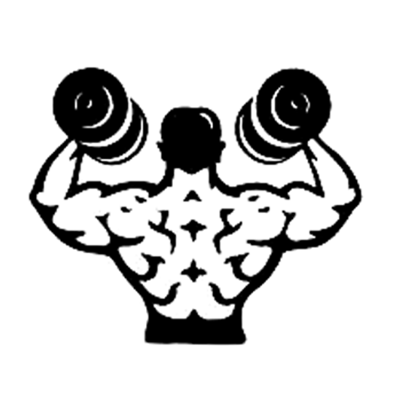 14.7CM*12.3CM Fashion Dumbbells Fitness Sports Black/Silver Decal Vinyl Car Sticker Silhouette Decor