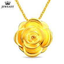 XXX Pure Gold Pendant Real AU999 Solid Gold Charm Nice Beautiful Rose Upscale Trendy Classic Party Fine Jewelry Hot Sell New