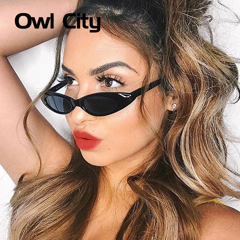 Owl City 2018 Vintage Sunglasses Women Small Cat Eye Sun