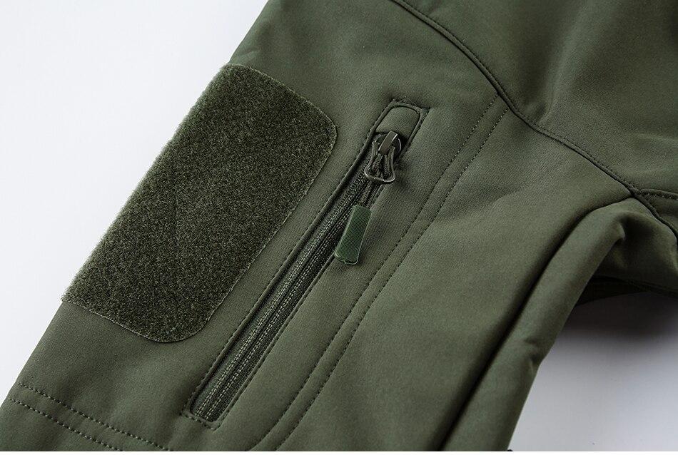 S.ARCHON Shark Skin Soft Shell Tactical Military Jacket Men Fleece Waterproof Army Clothing Multicam Camouflage Windbreakers Men 18