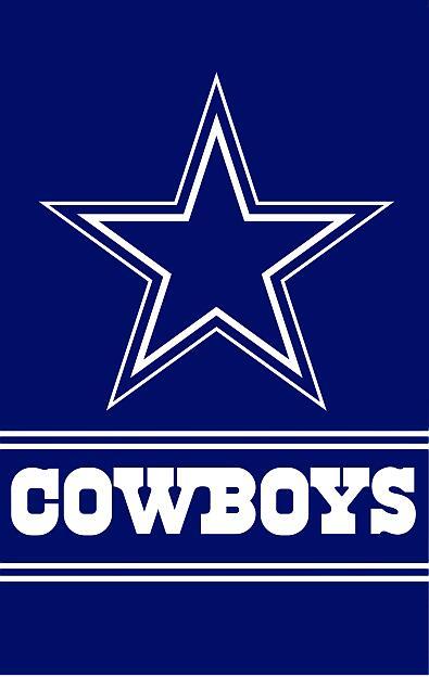 Dallas Cowboys logo vertical Flag 90x150cm With White ...