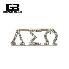 Handmade Crystal Greek Word Jewelry lamtha sigma omega Lapel Pin