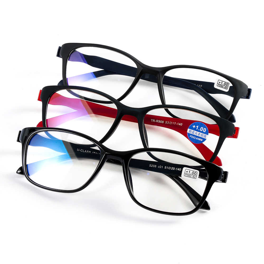 aee222bb6936 Unisex +1.0~+4.0 Diopter Vision Care Magnifying Eyewear Reading Glasses  Lightweight Transparent Rimless