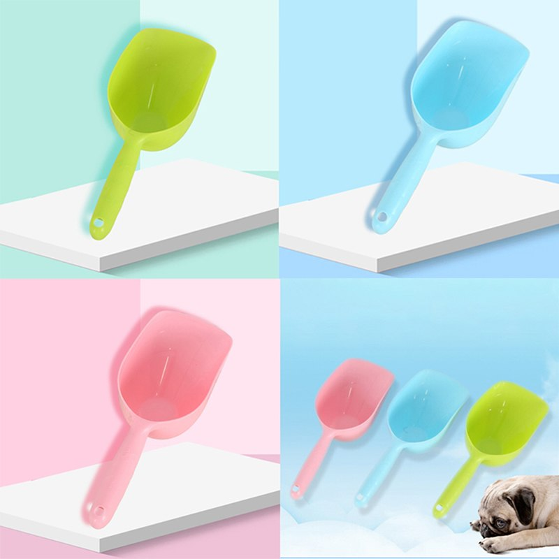 2018 Fashion Pet Feeder Scoop Shovel Spade Dishes Tool Dog Puppy Cat Bird Ferret Rabbit Food 3 Color image