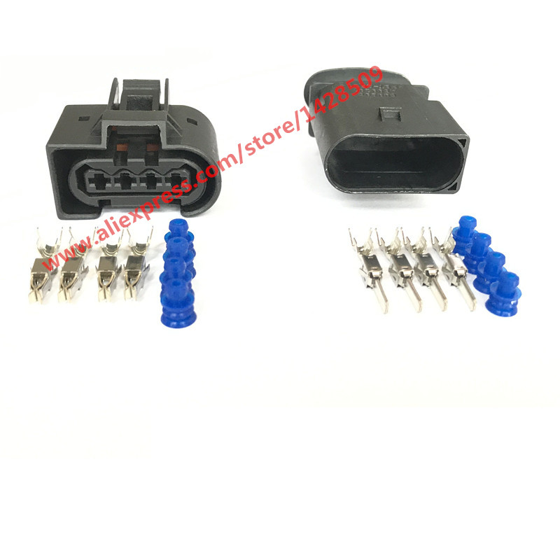 5 sets kostal 4 pin 9441491 2e0 905 kt 699296 a699297 female male automotive plug auto connector. Black Bedroom Furniture Sets. Home Design Ideas