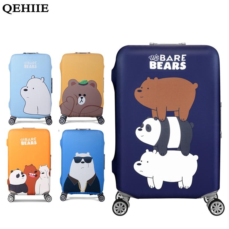 QEHIIE Elastic Luggage Cover Protector For 19-32 inch Troli Cloth - Aksesori perjalanan