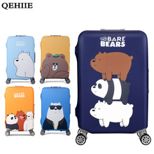 QEHIIE Elastic Luggage Cover Protector For 19-32 inch Troli Cloth Protect Dust Bag Case Child Cartoon Travel Accessories