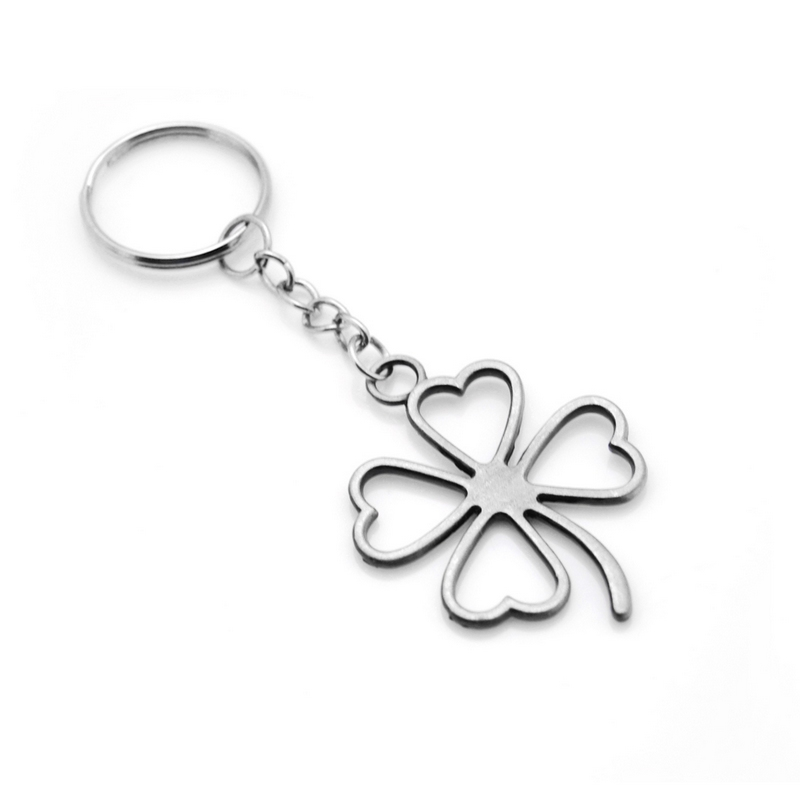 Original Lucky Four Leaves Clover Key Chains New Fashion Bag Buckle Pendant For Car Keyrings KeyChains Women Jewelry Men Gift
