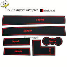 Car font b Interior b font Accessories Rubber Auto Luminous Gate Door Pad Anti Slip Cup