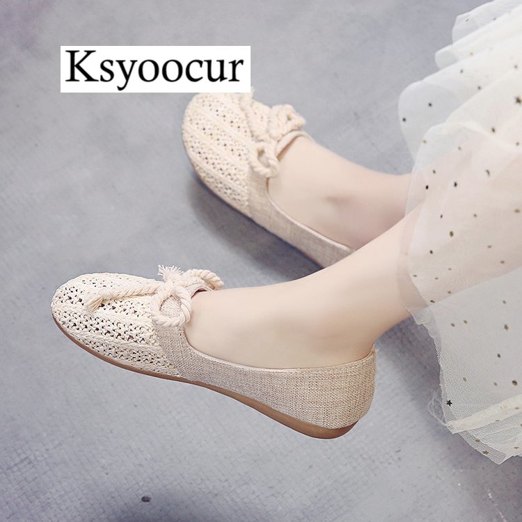 Image 5 - Brand Ksyoocur 2020 New Ladies Flat Shoes Casual Women Shoes Comfortable Round Toe Flat Shoes Spring/summer Women Shoes X03Womens Flats   -