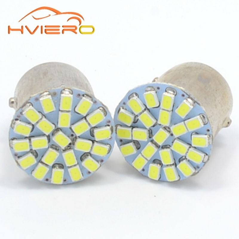 1Pcs 1157 BA15D 1156 BA15S 1206 3020 22SMD White LED Brake Turn Light Auto mobile Wedge Lamp Tail Bulb DC 12V Clearance Lights цена и фото