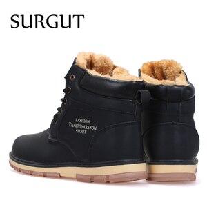 Image 2 - سورغوت ماركة الساخن أحدث الدفء الشتاء أحذية الرجال جودة عالية مقاوم للماء أحذية غير رسمية العمل موضة بو الجلود الثلوج الأحذية