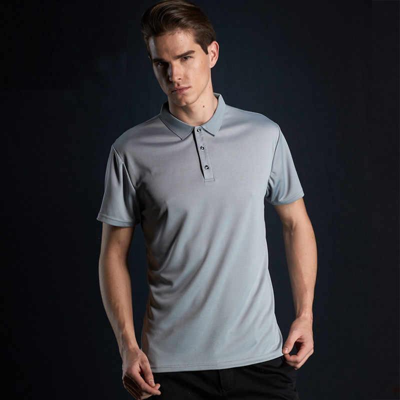 Yeni Marka Yeni erkek POLO GÖMLEK Erkekler Için Tasarımcı Polos Erkekler Kısa Kollu Gömlek Elbise Rahat Katı giyim Adam Için