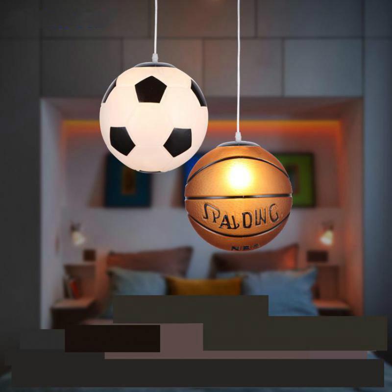 Single Head Basketball Football Glass Ceiling Lamp