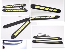 2pcs LED COB DRL Flexible Silicone Daytime Running Lights  4 Styling External Waterproof Led Car Light Source
