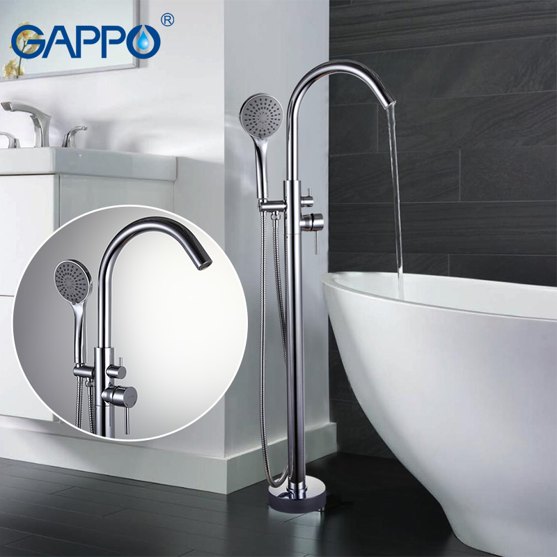 GAPPO Bathtub Faucets bathroom faucet bathroom taps Brass bathtub mixer bath mixer sink faucet waterfall faucet GA3098 gappo 1set bathroom faucet accessories faucet brass body bathtub sink mixer cold hot water faucet in hand showerg2211