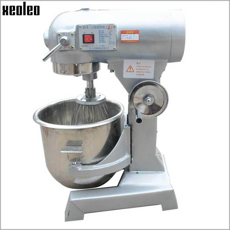 XEOLEO Multi functional Mixer Electric Bread Dough Mixer Eggs Blender 15L Kitchen Stand Food Milkshake/Cake Mixer 10A 220V 500W
