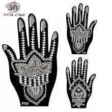 2 Pair Indian Henna Tattoo Stencil,Flower Hand Mehndi Henna Glitter Airbrush Tattoo Stencil Large Template Stencils For Painting