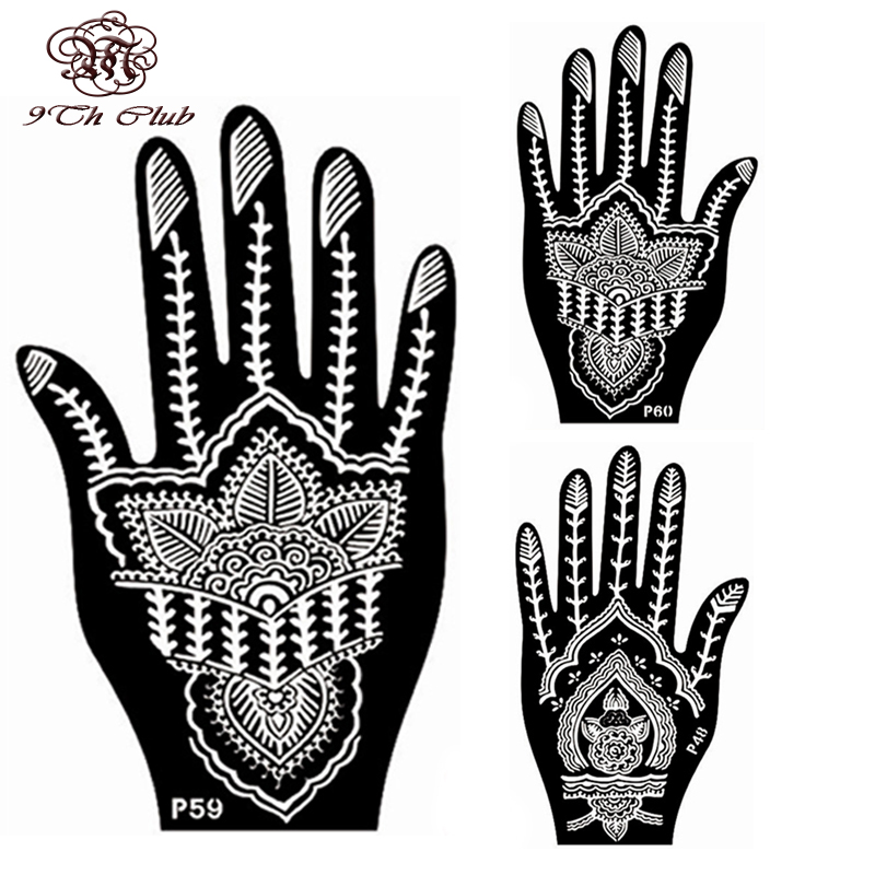 Henna Stencils: Aliexpress.com : Buy 2 Pair Indian Henna Tattoo Stencil