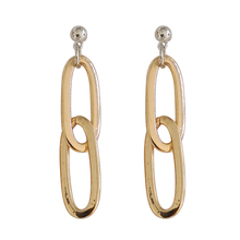 European and American fashion brand metal chain buckle earrings fashion ladies jewelry gifts wholesale