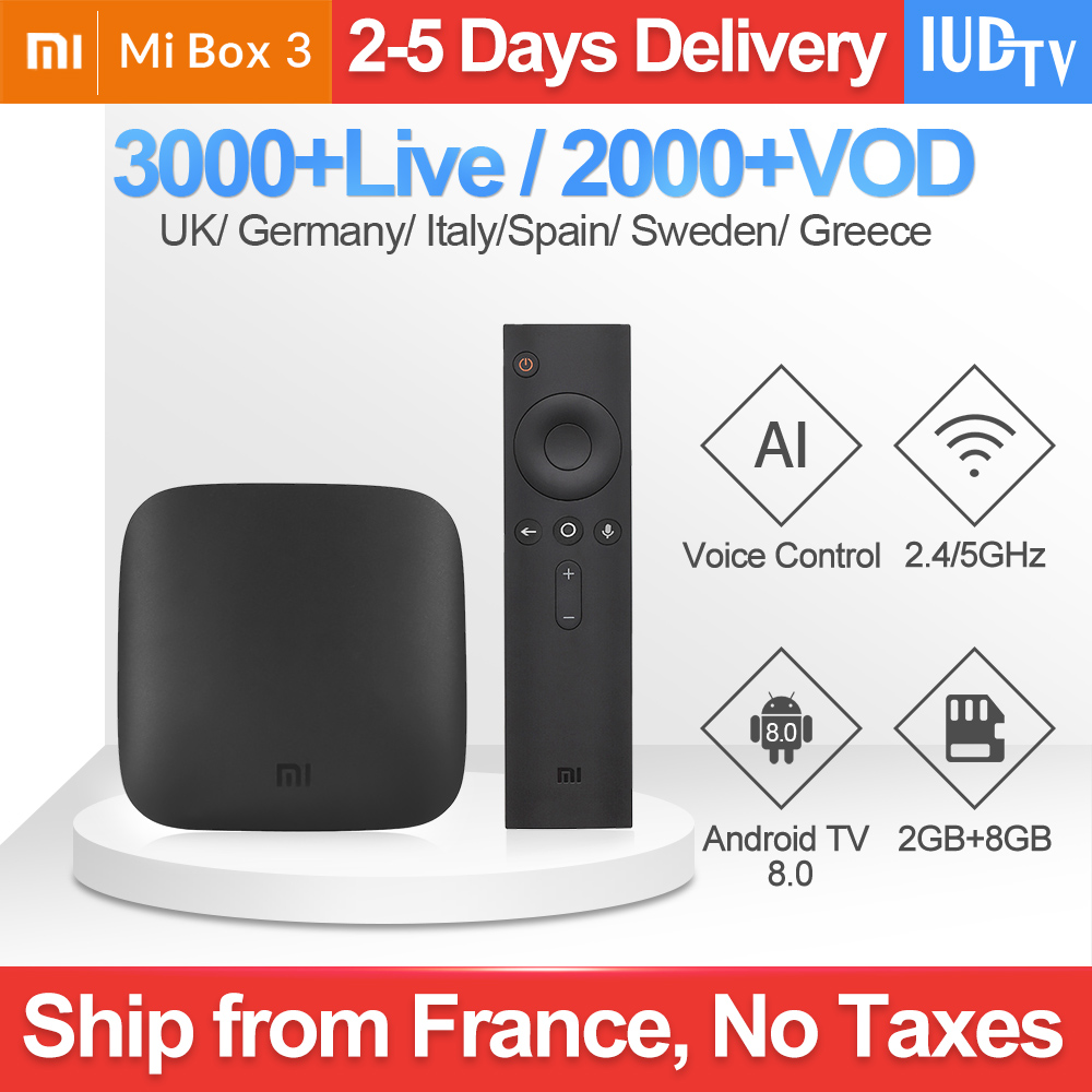 Xiaomi Mi Box 3 IPTV UK Swedish Italy IP TV Spain Germany Greek IPTV Subscription xiaomi Arabic Romania India IPTV France Turkey-in Set-top Boxes from Consumer Electronics